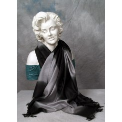Tørklæde sort og grå