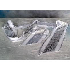 Tørklæde m/palietter sølv