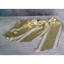 Tørklæde m/palietter guld