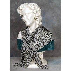 Tørklæde silke grønt