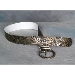 Bælte med flot præget mønster kobber