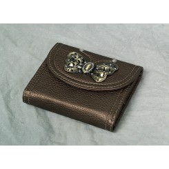 Pige pung i bronce med sommerfugl