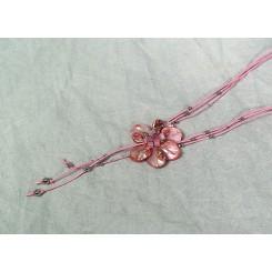 Halskæde i rosa nuancer