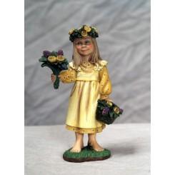 Sommerpige med blomster
