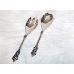 Salatbestik i antik sølv