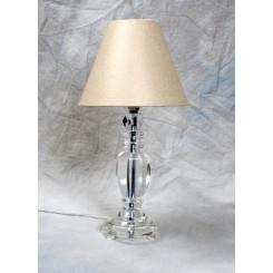 "Lampe klar ""krystal"" m.skærm i ""guld""stof"