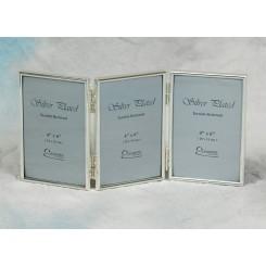 Sølvplet fotoramme m/3 10x15 cm