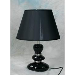 Lampe sort 28/42 cm m/sort skærm