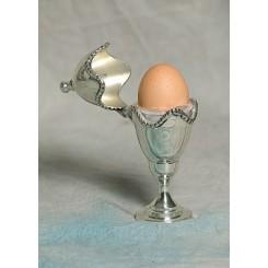 Æggebæger m. låg sølv