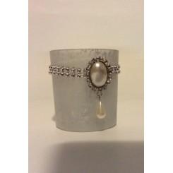 Glas sølv mat til fyrfadslys