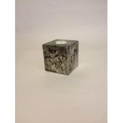 """Lysestage """"i Antique silver"""" til fyrfadslys"""