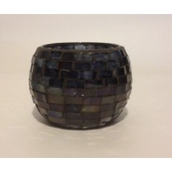 Glas krukke shining black