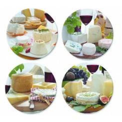 Dekorative oste tallerkener 4 stk.