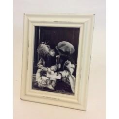 Hvid slidt ramme til 1 stk. 13x18 billede