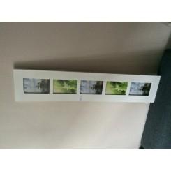 Højglans hvid ramme til 5 stk. 10x15 billeder