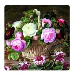 coasters dekoreret med engelske roser