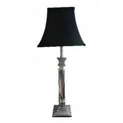 Lampe sølv firkantet fod