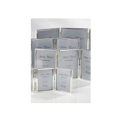 Sølvplet fotoramme m/3 6x9 cm