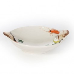 Stor skaldyrs skål i fajance
