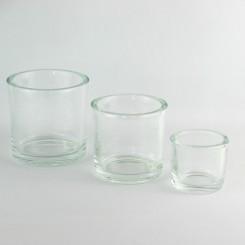 Glas skjuler klar 14 x14 cm