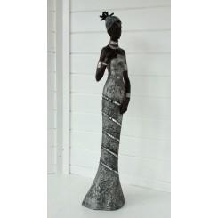 AFRIKA DAME, 92 CM silver black