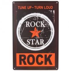 metalskilt ROCK STAR