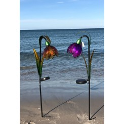 Solcelle blomster lamper