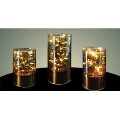 Smukke lys vaser i kobber