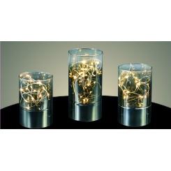 Smukke lys vaser i sølvsort