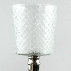 Topglas med rude dek. 8 cm.