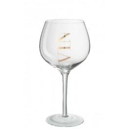 Stort vin glas med tekst