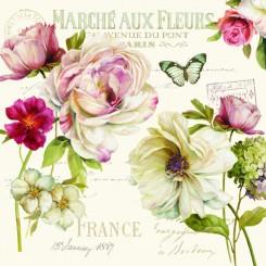 Servietter Fransk rose