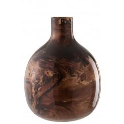 Stor vase kobberfarvet