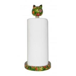 Køkkenrulle holder med kat grøn