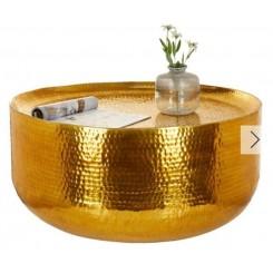 Hamret metalbord gylden